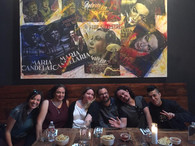 Tucson Cine Mexico meets TROKER OFICIAL! We we're excited that psychedelic Mexican jazz band Troker was in town. We all got together for tacos y bebidas at Penca ahead of their performance. March 2017