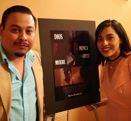 Happy for Tanya Núñez, Hanson FilmTV Institute Intern, winner of the Film Tucson New Filmmaker Award for her film DIOS NUNCA MUERE (GOD NEVER DIES). Here, the director poses with Fausto Olmos, an actor in the film and, incidentally, one of our Tucson Cine Mexico committee members. April 2017