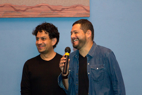 Tucson Cine Mexico co-director Carlos Gutierrez and guest filmmaker Beto Gomez at the 2015 festival.