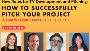 New Rules for Tv Development and Pitching: How to Successfully Pitch Your Project – A Free Webinar