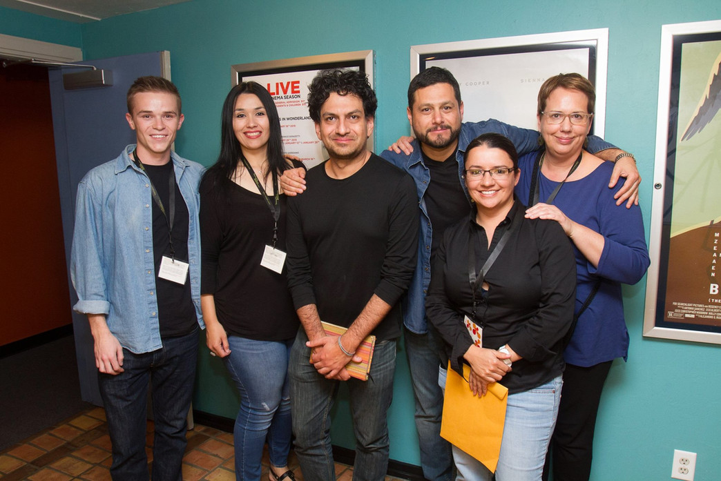 2015 Tucson Cine Mexico staff and volunteers with Guest Programmer Carlos Gutierrez (center)