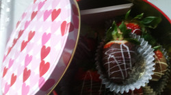 chocolate covered strawberies