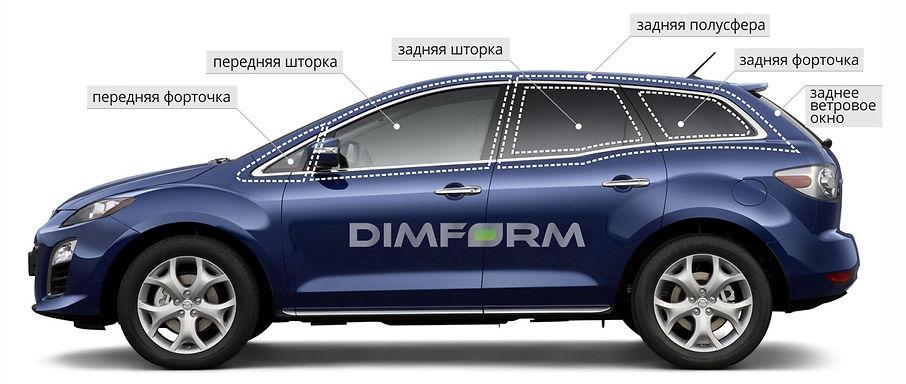 каркасные автошторки Димформ Dimform