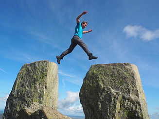 jumping between Adam and Eve on Tryfan.J