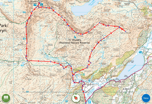 Alternative Snowdon Horseshoe Map