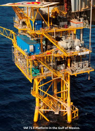 SM 71 F Platform in the Gulf of Mexico