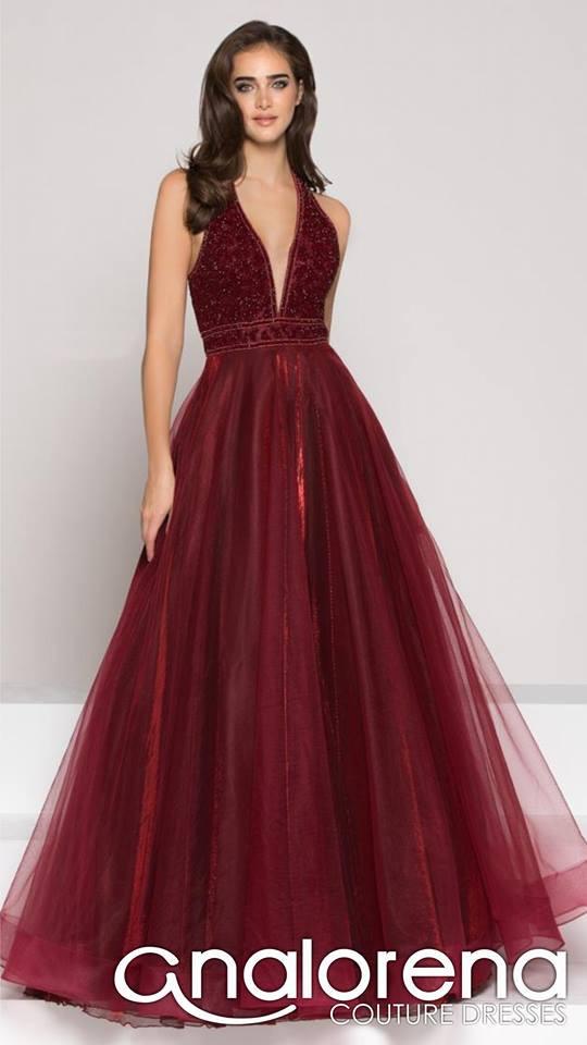 f976fa740 Vestidos de xv rojos Vestido Color Couture con forro tornasol ...