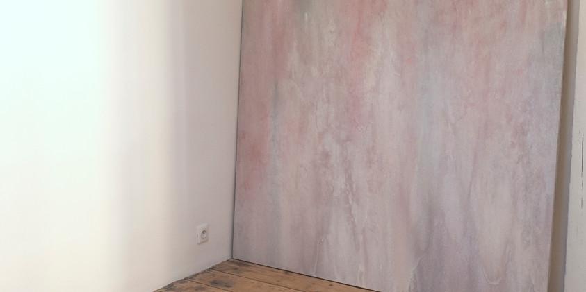 """the fact that that cute kitty is probably dead now just hit me..."" polystyrène, pigments, vernis 2020  Drapée-rosée huile sur toile 170 x 170cm, 2020 Benoît Blanchard"