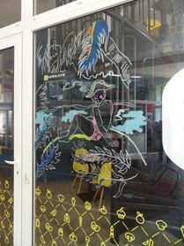 vitrine du restaurant Potes & Boc