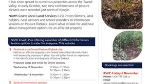 North Coast LLS Pasture Dieback Information Sessions