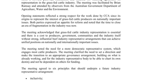 Cattle Producers Australia & Cattle Council of Australia Roundtable Meeting Outcome
