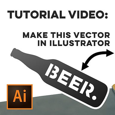 Illustrator Tutorial: Create a Beer Bottle
