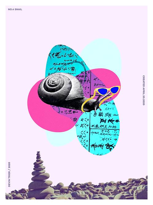 """Snail, 18""""x24"""""""