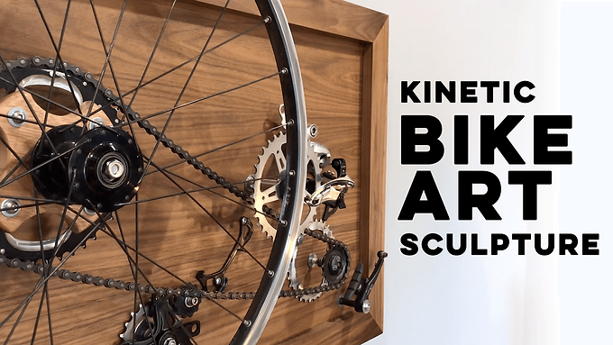 Kinetic Bike Art Sculpture
