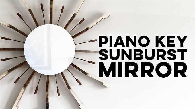 Piano Key Sunburst Mirror