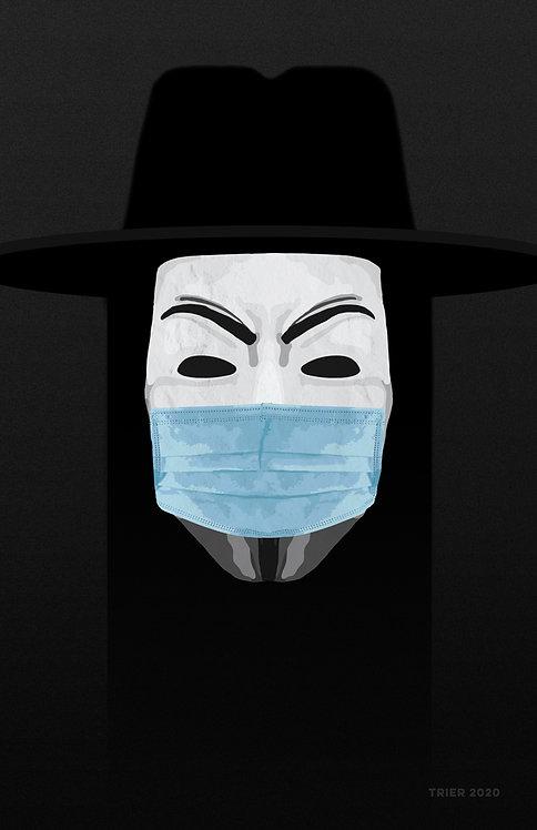 "Fawkin' Mask 11""x17"""