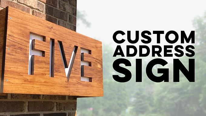 Custom Address Sign with Backlight