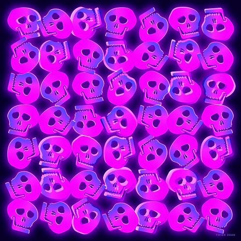 """Skully, 10""""x10"""""""
