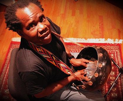 South African Kalimba player