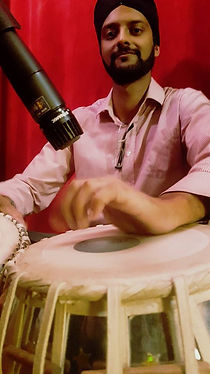 Indian man playing tabla