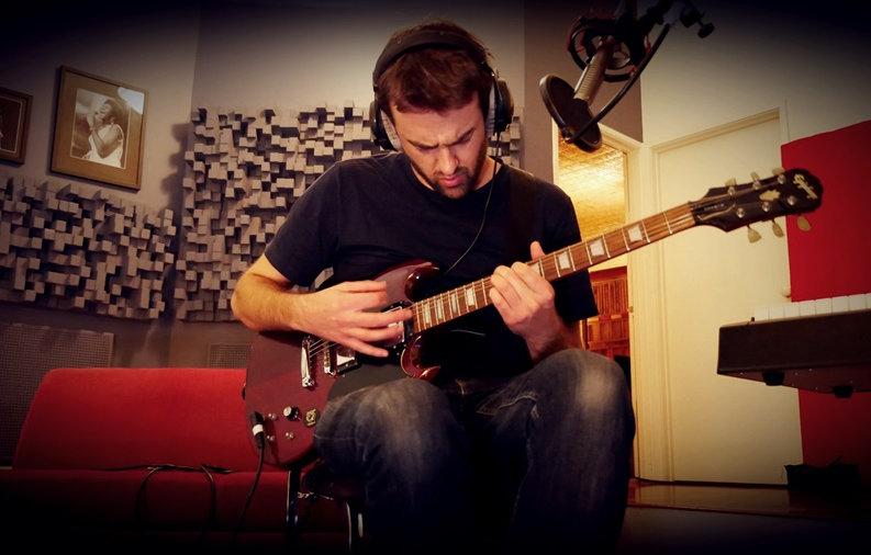 Singer guitarist songwriter ribbon microphone