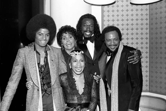 The Wiz World Premiere. Michael Jackson, Lena Horne, Valery Simpson, NIck Ashford and Quincy Jones