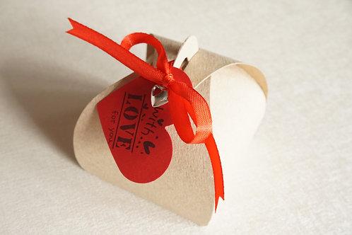 крафт кутийка за бижу подарък