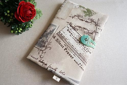 красива подвързия за книга с ретро щампа
