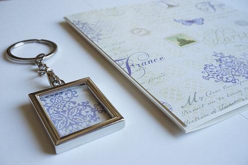 Дамски комплект за подарък- ключодържател и картичка Couture