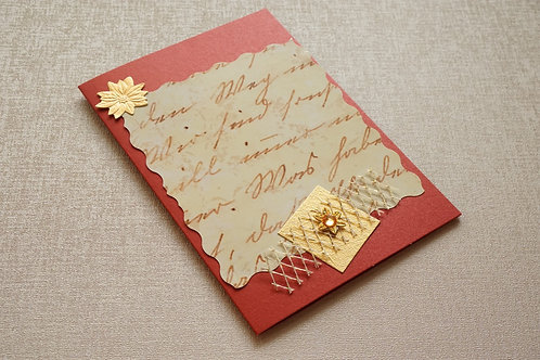 картичка червено и златно