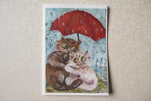 рисувана картичка