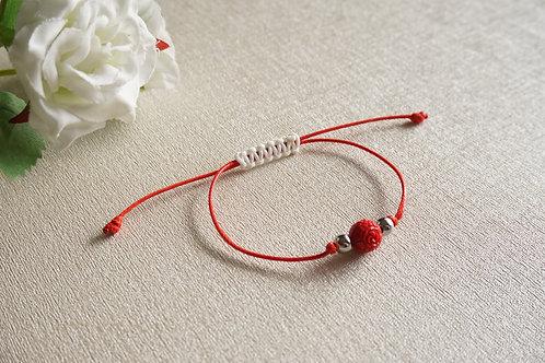 Мартеница с червена роза