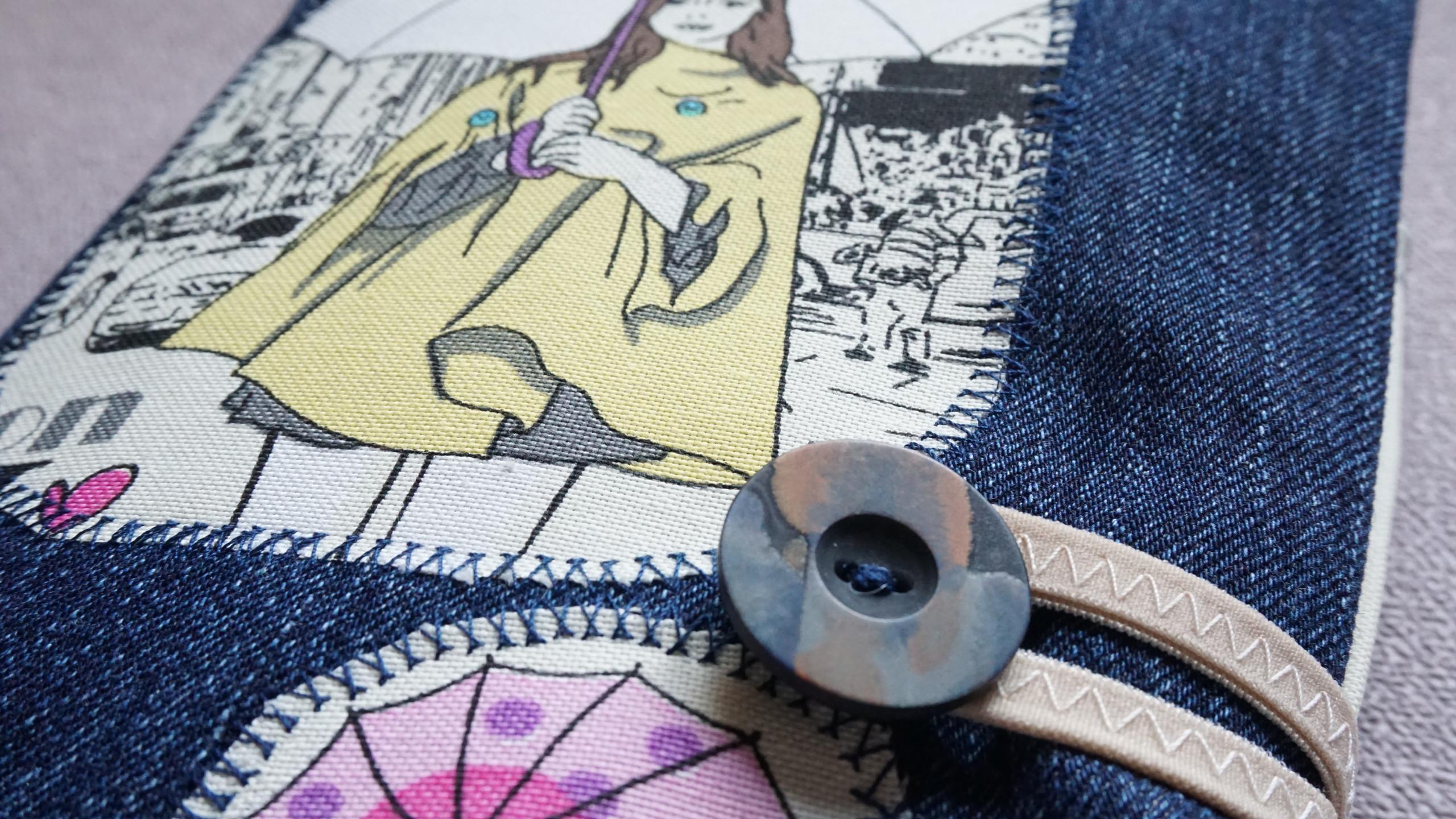 """Текстилна подвързия за книга """"Fashio"""