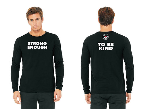"""Strong Enough"" Long Sleeve Shirt - Black"