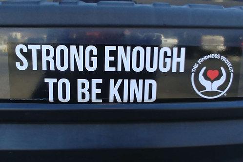 """""""Strong Enough"""" Bumper Sticker"""