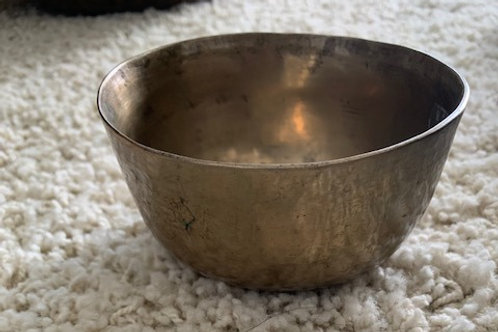 4 inch Hand hammered bowl with striker