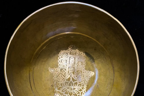 Golden Fatima Singing Bowl