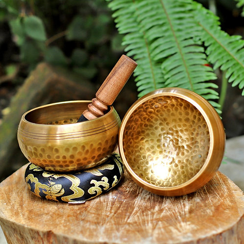 4 Inch Hand Hammered Brass Himalayan Singing Bowl