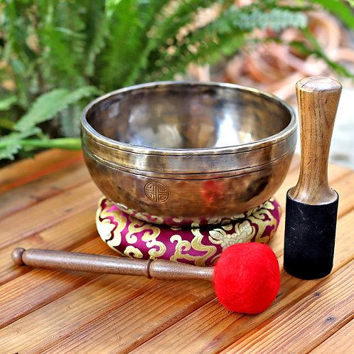 10 Inch Handmade, Full Moon Himalayan Sing Bowls - 7 Metals