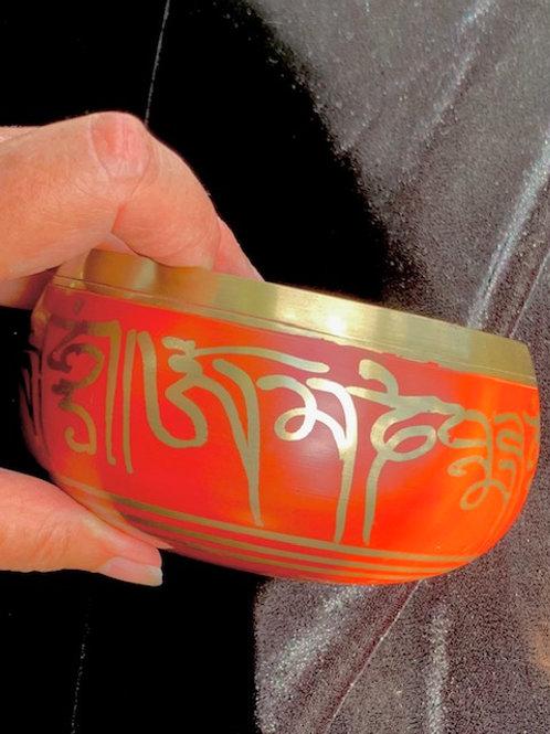 Red Singing bowl