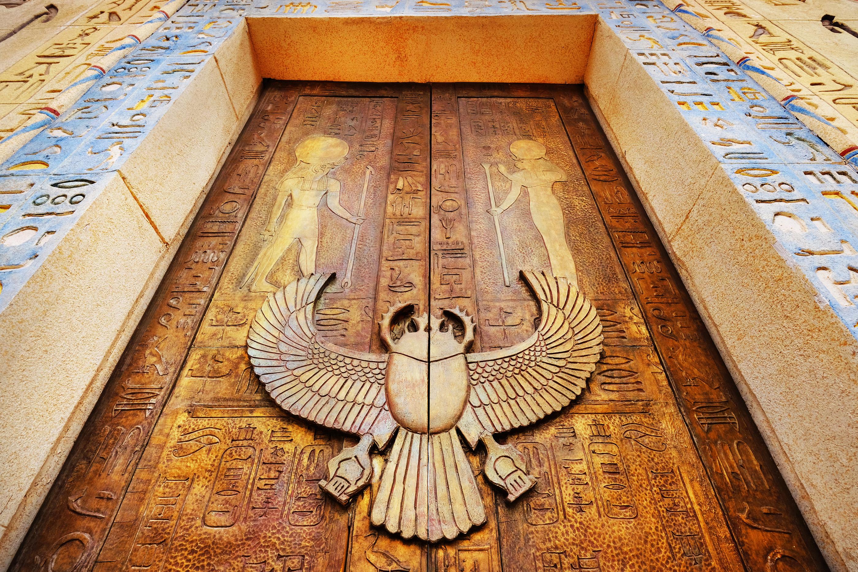 bigstock-Ancient-Egypt-Scene-Hieroglyp-3