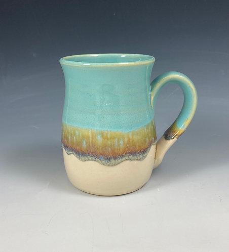Mug Turquoise Clear/Sand