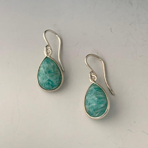 29 Amazonite/Sterling Earrings