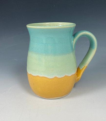 Mug  Turquoise/Yellow