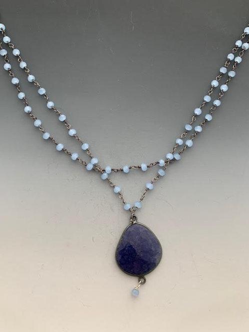 """17 Chalcedony Lapis Lazuli 18"""""""