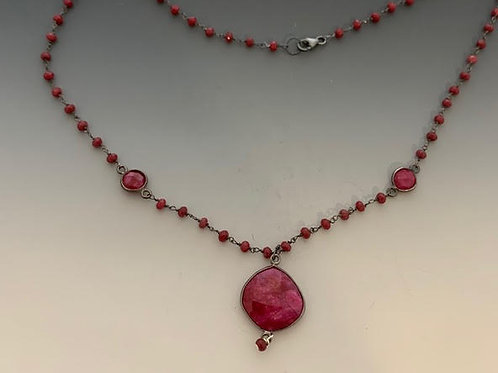 05 Ruby and silver 19""