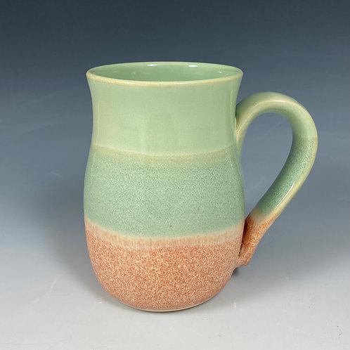 Mug  Orange Cream/Jade