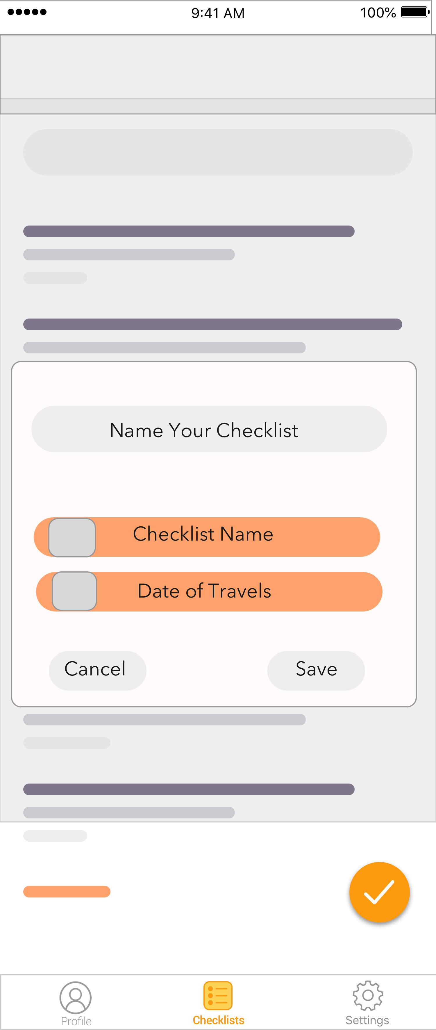 Add Checklist Name