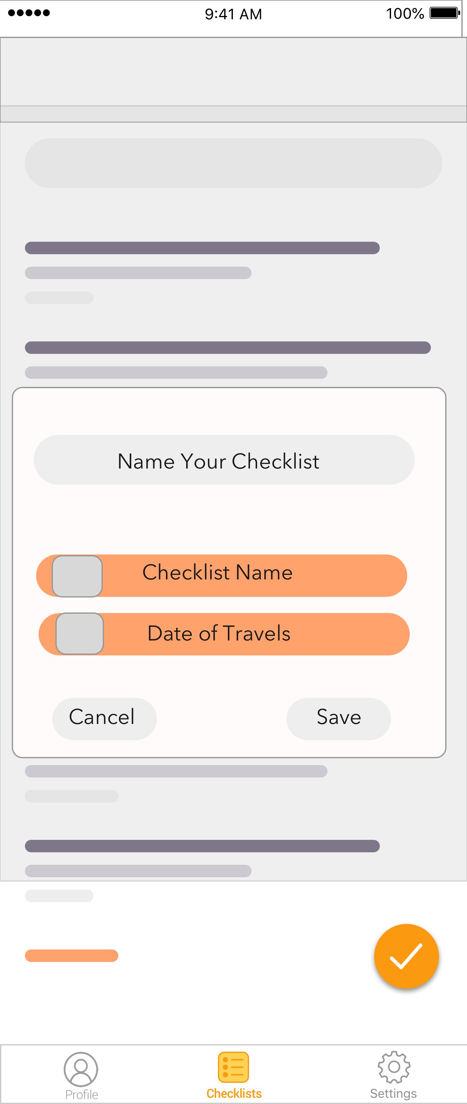 Add Checklist Name