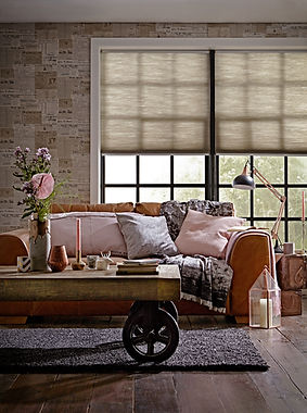 Hive Pleated Blinds in Silkweave - Elephant